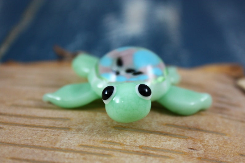 Meeresschildkröte Miniatur Miniatur Glas Fee Garten Zubehör Etsy