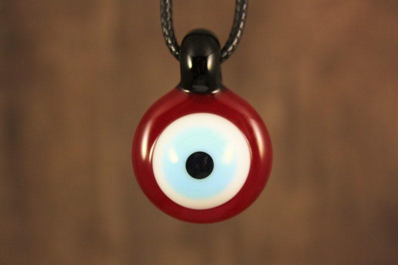 Evil Eye Pendant Necklace Glass Pendant Spiritual Jewelry Evil Eye Necklace Evil Eye Jewelry Glass Pendant Necklace Evil Eye Pendant