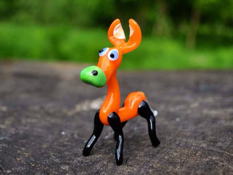 Made In Italy Decorative Orange Figurine Murano Glass Blown Orange