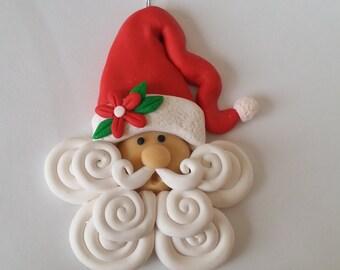 Handgefertigte Polymer Clay Santa Weihnachten Ornament - Santa Geschenk-
