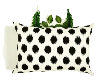 PILLOW COVERS | Black and White Print Pillow Cover | Cotton | Home Decor | ALPHONSINA