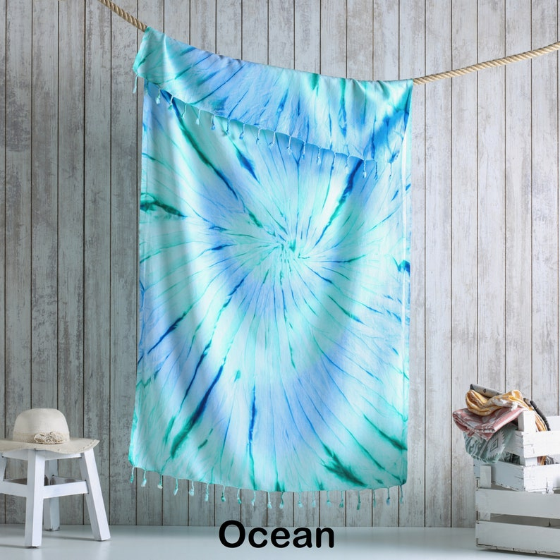 Summer Fashion Tie dye Beach Towel Turkish Towels Ocean