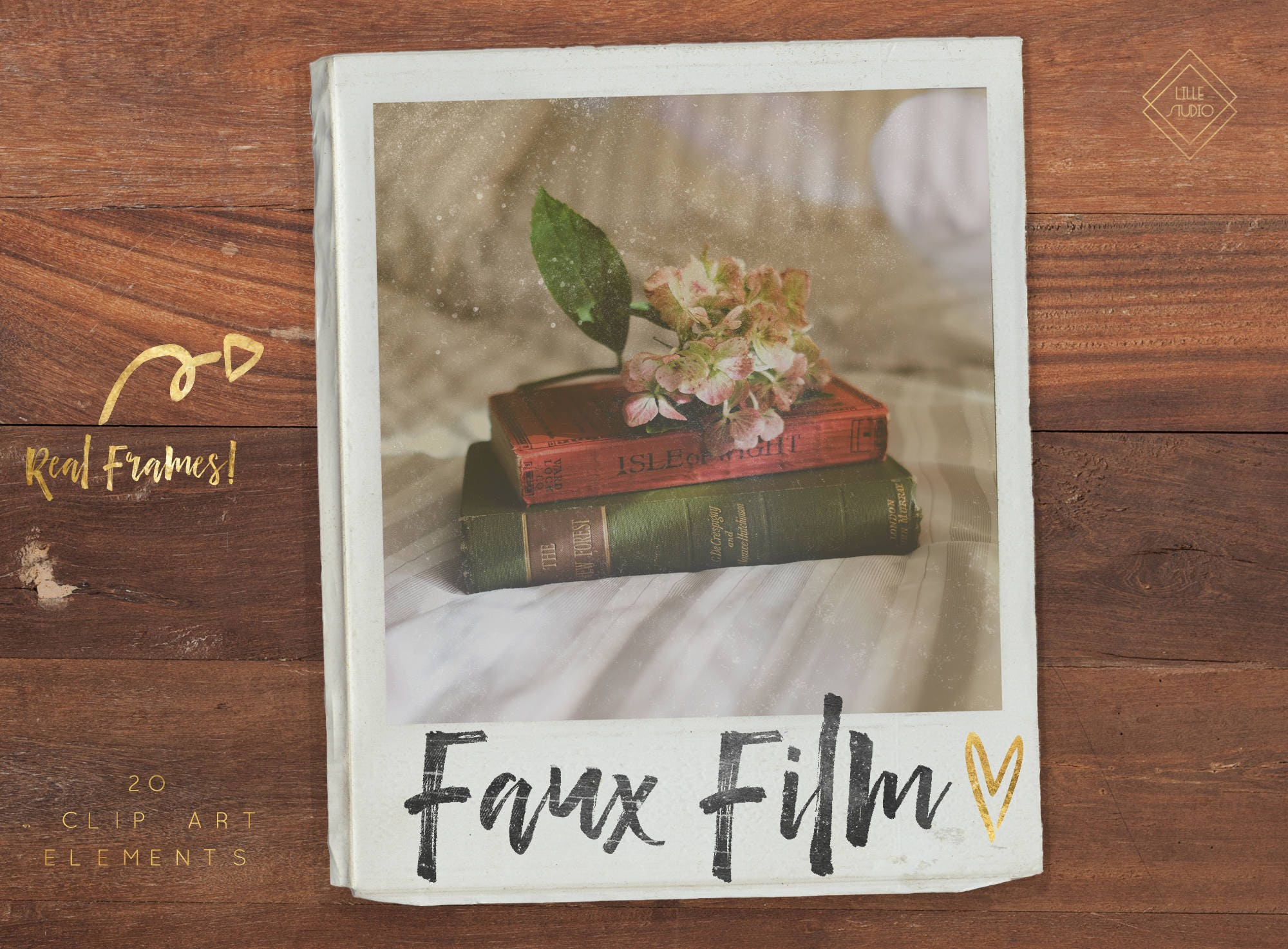 Instant Film Photoshop Overlays - Polaroid Clipart Frames - Polaroid ...