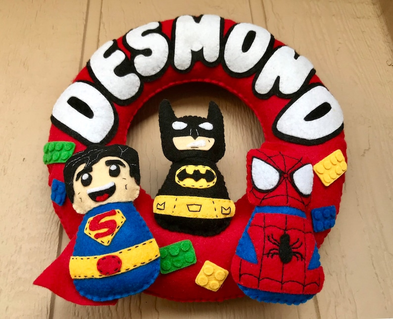 LEGO Name Banner Wreath  Bedroom Decor  Wall Hanging  LEGO Party  Personalized Home Decor  Nursery  Boys Room  Baby Shower\u00a0