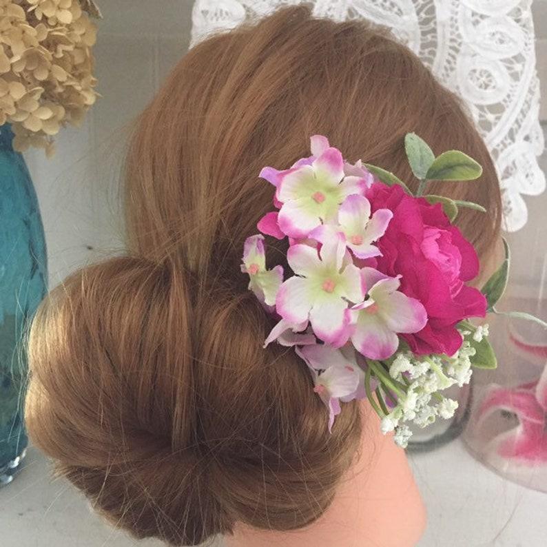 Rose floral hair pin