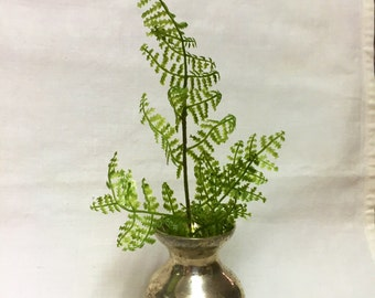 Single Small Silver Bud Vase