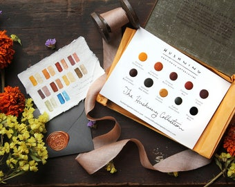 Handmade Watercolor Paint -  Sample Card - The Hushwing Collection - Natural Earth/Modern Pigment - Professional Artist Paint - Artist Gift