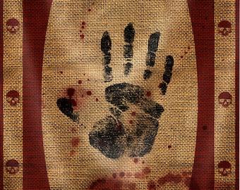 Lifesize banner, Skyrim Dark Brotherhood