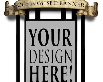 Fully customised banner