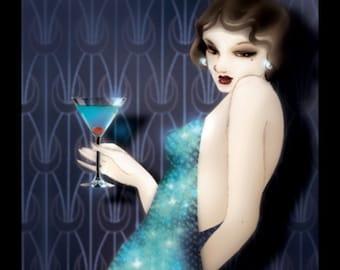"""Original artwork: """"Blue martini"""""""