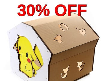 Pokemon Cardboard Cat House, Cat Toy, Cat Bed, Pet Furniture, Playground