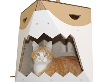 Great White Cardboard Cat House