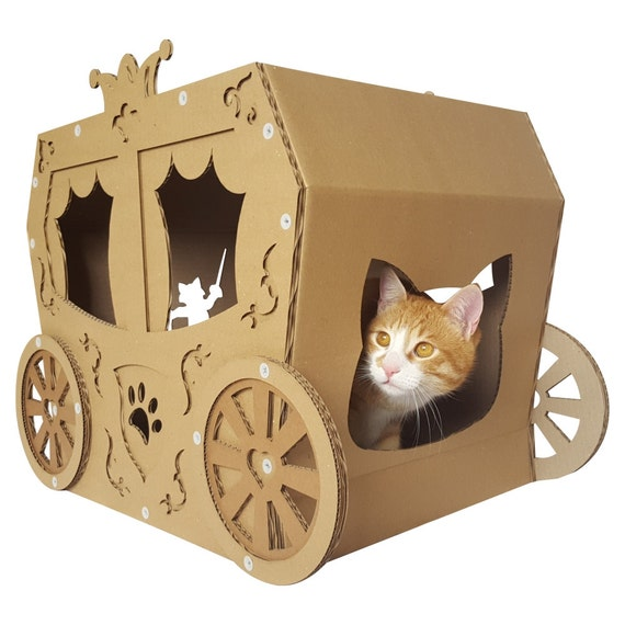 Carriage Cardboard Cat House