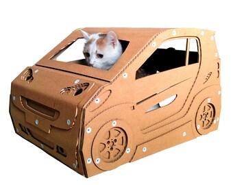 Smart Cardboard Cat House,Cat Furniture, Cat Toy, Cat Bed, Cat Cave, Pet House, Cardboard Furniture,Cat Condo