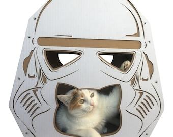 StarWars Imperial Stormtrooper Cardboard Cat House,Cat Furniture,Cat Toy,Cat Bed,Cat Cave,Pet House,Cardboard Furniture,Cat Condo