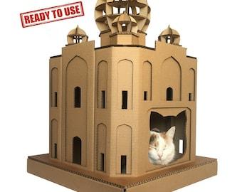 Taj Mahal Cardboard Cat House,Unique Cat Furniture, Cat Toy, Cat Bed, Cat Cave, Pet House, Cardboard Furniture,Cat Condo