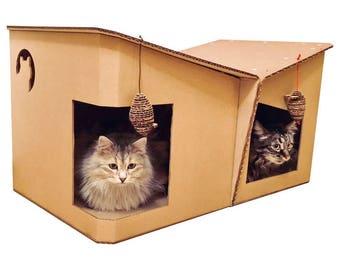 Friends Cardboard Cat House, Cat Cave, Cat Convo, Pet Furniture