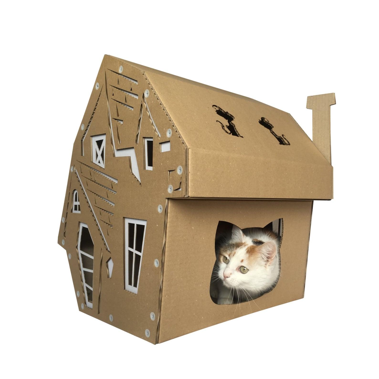 Halloween Cardboard Cat House