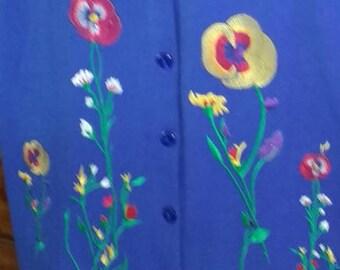 Blue Pant Suit - Saks 5th Ave, SIZE LARGE, vintage