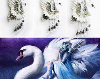 swan pendant, bird pendant, gift pendant, bride pendant, fantasy pendant, bridesmaids pendant, swan, fantasy wedding, gift for her, gift