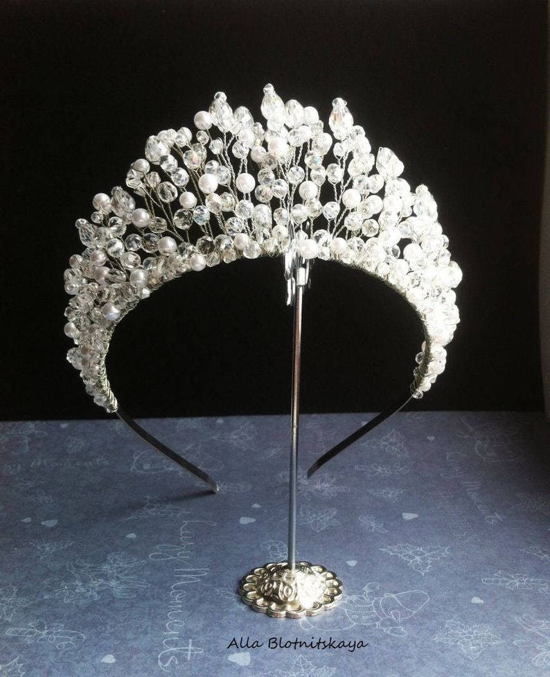 Silver Silver Rhinestone Wedding Tiara,Princess Tiara Royal Bridal Crown graduation Silver Princess Crown Silver Bridal Tiara wedding