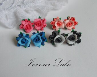Rose earring, roses, bridal jewelry, bridesmaid rose, bridesmaid earring, flowers accessory, flowers earring, rose