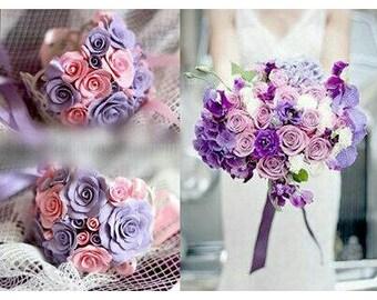 bride bouquet, bride bracelet, roses bride bouquet, purple and pink bouquet, roses bride, pink bride bouquet, bridesmaid corsage, bridal