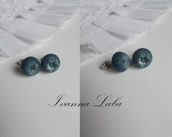 bilberry earrings, blueberry earrings, berry earrings, gift for her, bridesmaids earrings, rustic bridal jewellery, blueberry jewellery