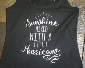 Sunshine mixed with a little Hurricane tank top.  summertime/fun/weekend/tank