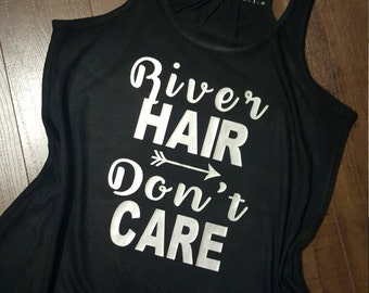 River hair..don't care flowy tank