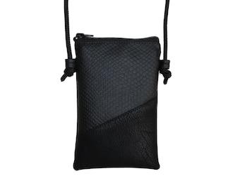 Handy shoulder bag vegan /handy bag ) custom-made/vegan leather shoulder bag / mobile phone chain