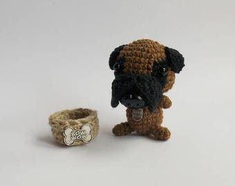 amigurumi black  dog / cute stuffed dog  /  dog hand made puppy   / crocheted dog / stuffed animals / amigurumi puppy / dog lovers gift /