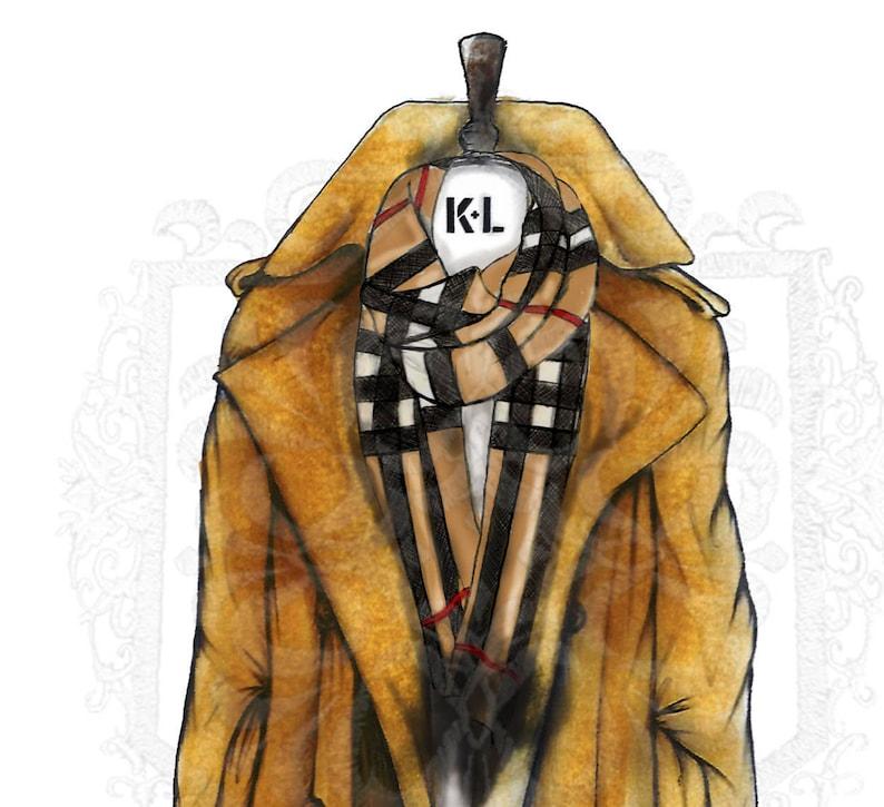 Burberry Trench Coat Print Illustration