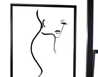 Elle print, Fashion Illustration, Picasso Style, Fashion sketch, Wall art
