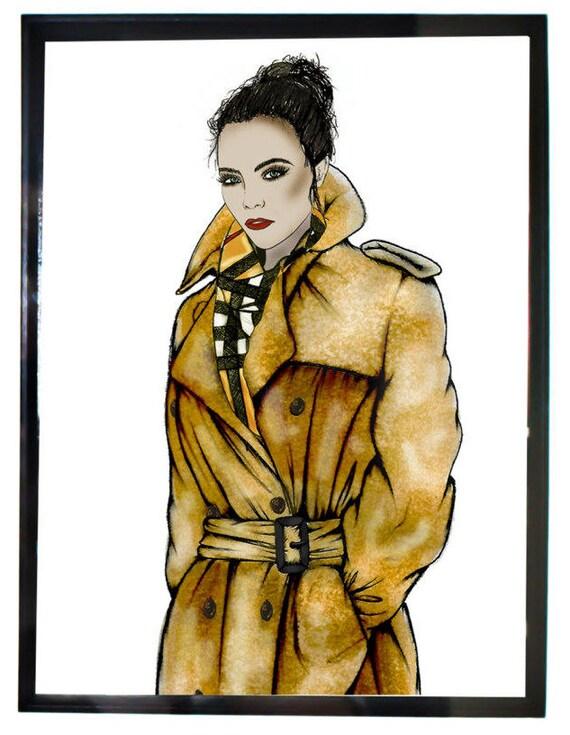 Burberry Trench Cara Delevingne Print Fashion