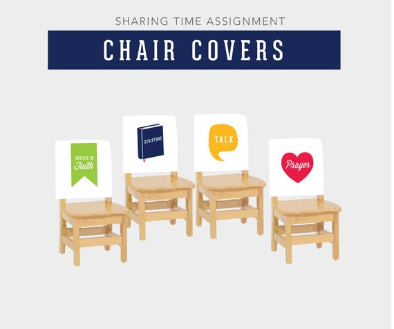Fantastic Lds Primary Sharing Time Chair Covers Assignments Seat Covers For Kids 8 5X11 Us Letter Size Instant Download Printable Machost Co Dining Chair Design Ideas Machostcouk