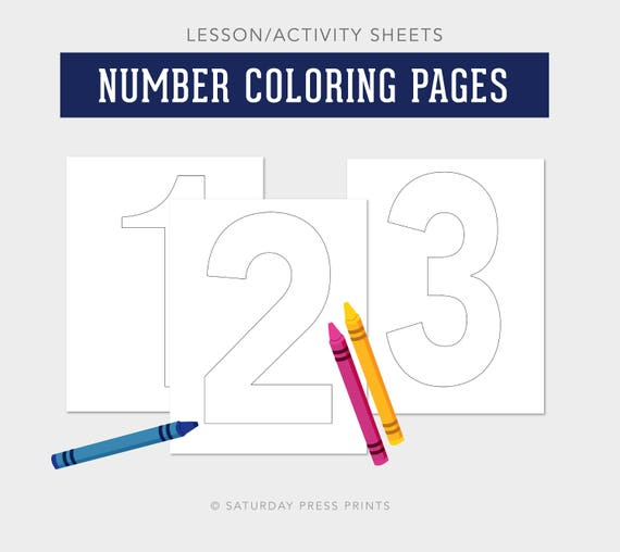 Teaching Numbers Counting Worksheets Activity Sheets Number Etsy