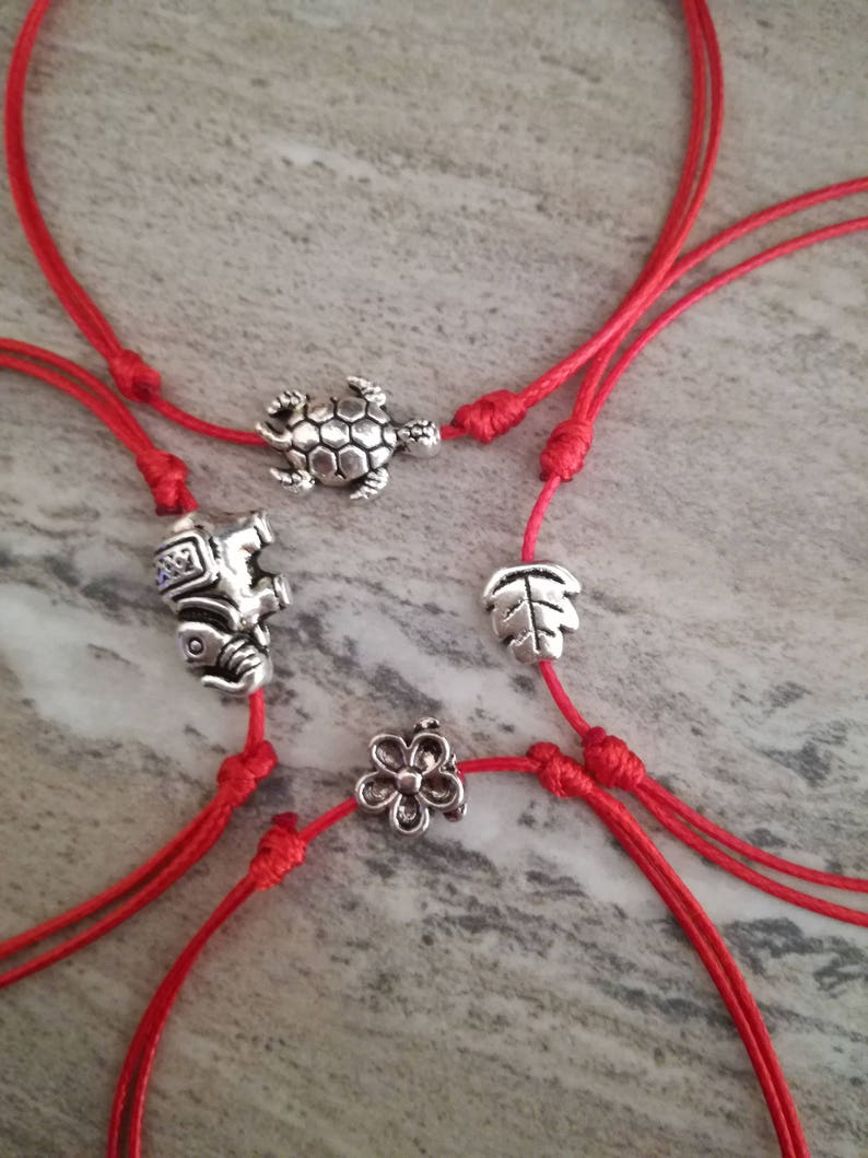 39464488b5aa Pulsera de hilo rojo, pulseras de la Kabbalah, cadena de la suerte,  pulseras de buena suerte, colgante de plata, pulseras de protección,  amuleto, ...