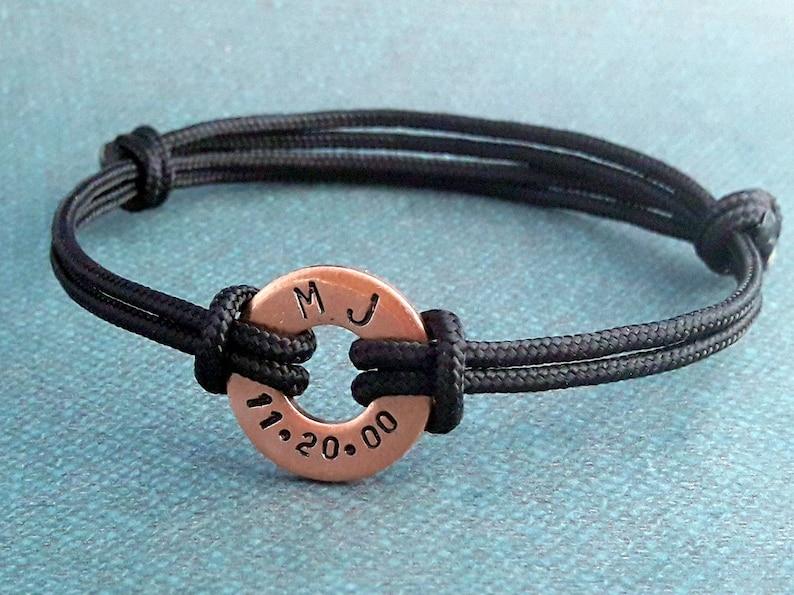 Custom Coordinates Bracelet Anniversary Gift for Boyfriend Gift Washer Bracelet Latitude Longitude Bracelet for Men Bracelet Girlfriend Gift
