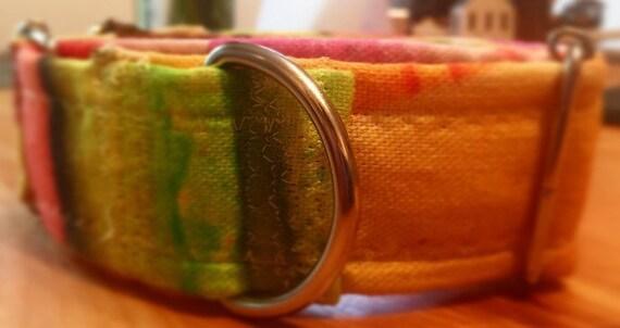 """1.5"""" macarons martingale collier, collier de chien, Collier whippet, whippet, levrier, lévrier italien, collier chiot, collier"""