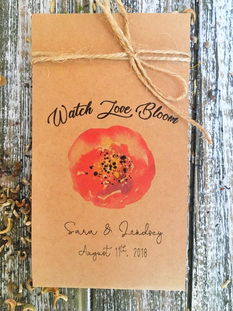 Navy blue Wedding 100 Flower Seed Favors Boho Wedding Favors custom seed packets - Wedding Favor Wedding flower seeds packets
