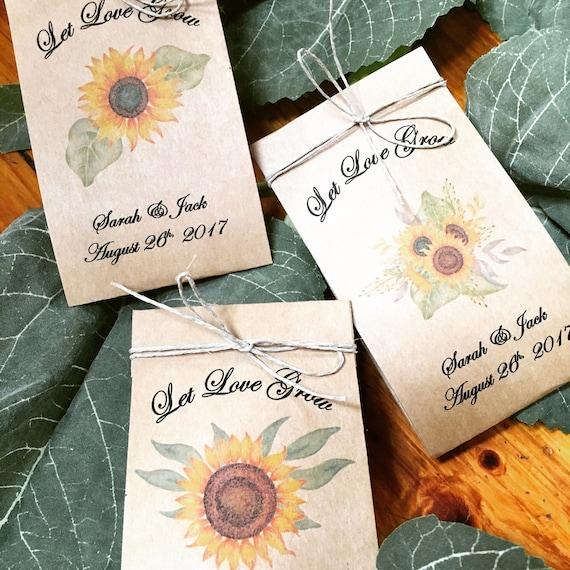 Fall Wedding Favors Sunflower Seed Favors 100 Wedding Etsy