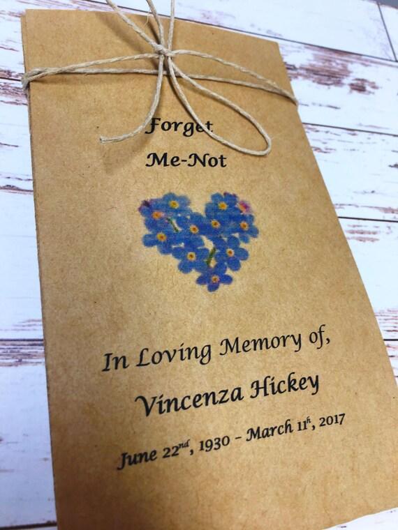 Funeral Bereavement In Loving Memory of Memorial Sympathy Keepsake Gift Favors Flower Seeds Wake Remembrance Keepsake Condolence
