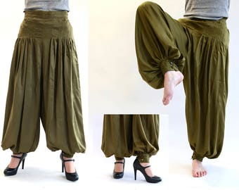 Pluder pants Jessica, pants olive