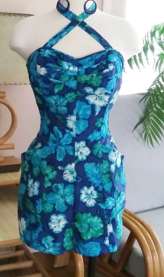 1950s Miss Hawaii by Kamehameha Hawaiian Playsuit