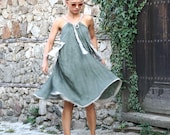 Boho Linen Dress, Plus Size Clothing, Linen Clothes, Sustainable Fashion, Flax Clothing, Loose Dress, Hippie Fashion, Summer Outfit