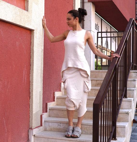 e934cfa5126d Lagenlook Extravagant Harem Pants Drop Crotch Trousers