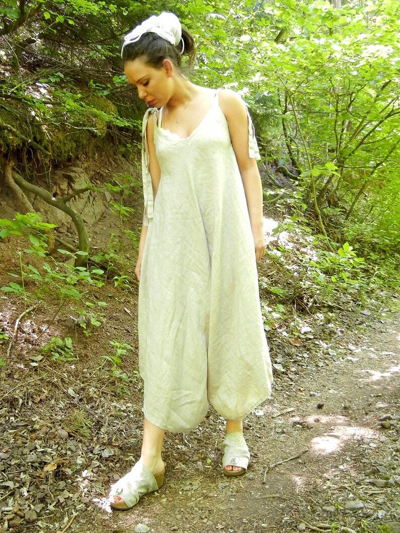 8861249517e5 Jumpsuit Women Linen Jumpsuit Plus Size Clothing Linen