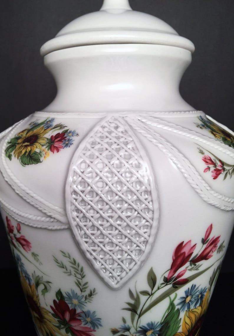 Handmade Porcelain Cremation Urn Sunflower Urn Lace Work ...