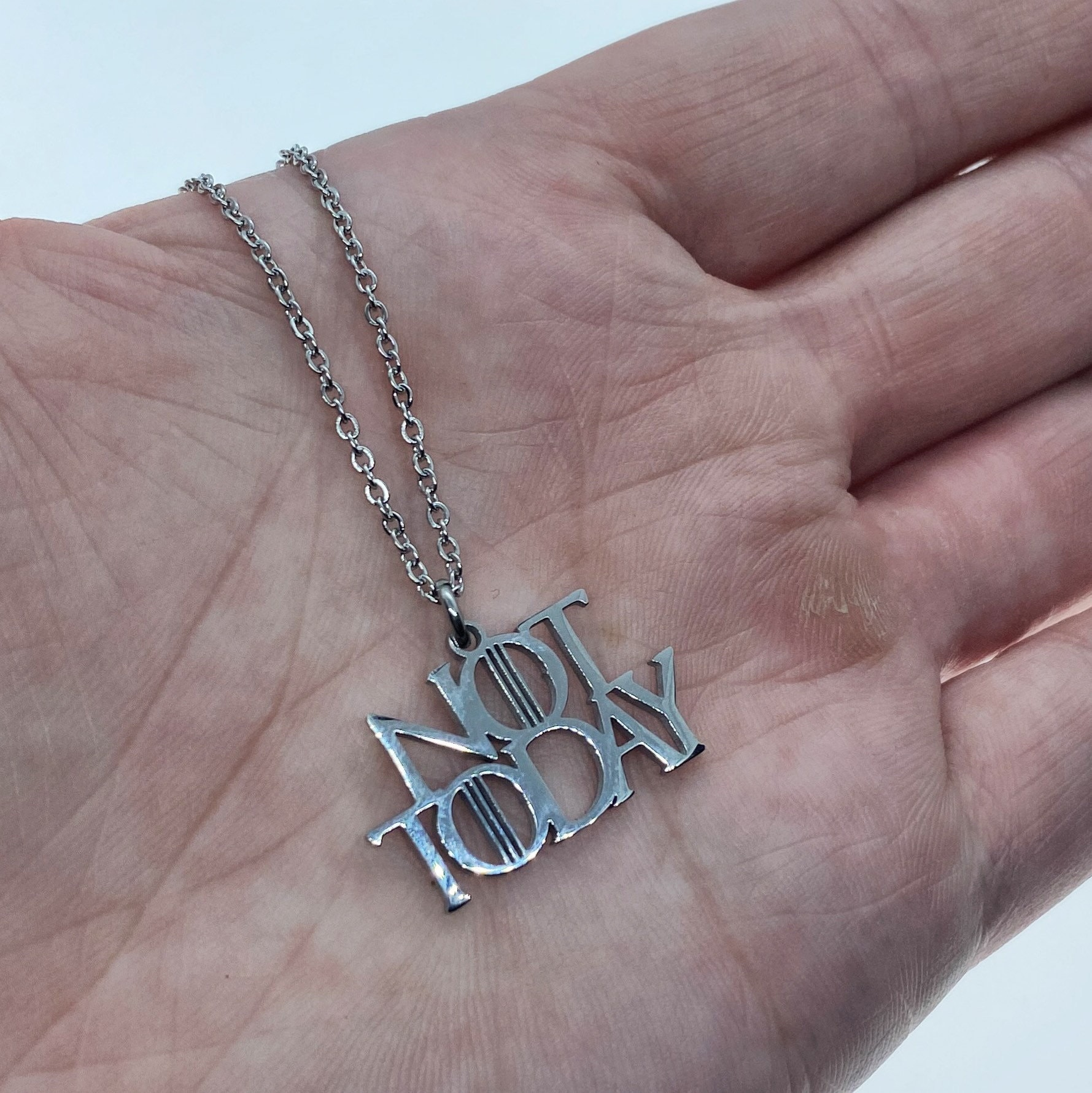 Arya Stark Necklace Not Today Necklace Game Of Thrones Necklace Game Of Thrones Gift Game Of Thrones Jewelry Game Of Thrones Fan Gift